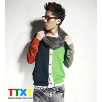 Áo khoác cadigan phối màu korea Mã: NK0315