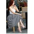 Chân váy caro Vintage