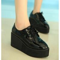 Giày bata nữ đế cao