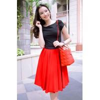 Sét áo nhung đen váy đỏ siêu tuyết cực đẹp