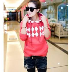 áo thun hoodie hình tứ giác Mã: AX1912 - HỒNG