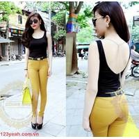 Quần jeans nữ-quần tregging-quần yếm co giãn dáng ôm siu đẹp QJE60