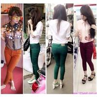 Quần jeans nữ-quần tregging-quần yếm co giãn dáng ôm siu đẹp QJE80