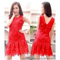D2439-Đầm ren hoa cao cấp xinh đẹp
