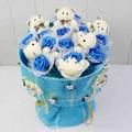 Hoa gấu bông - 6 gấu trắng