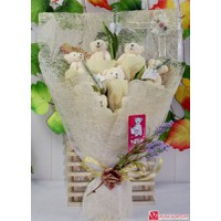 Hoa gấu bông - 9 gấu trắng