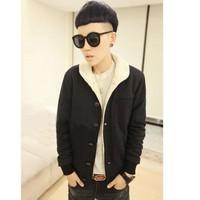 áo khoác thu đông lót lông Mã: NK0486 - ĐEN