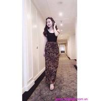 Đầm maxi váy beo quyến rũ sành điệu sDD586