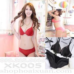 Bộ đồ lót xuất khẩu thun mịn  hiệu Victoria Secret - XK005