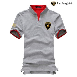 Áo thun nan thời trang cao cấp Lamborghini xám