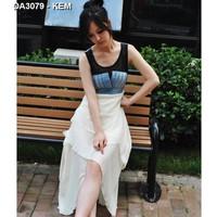 Đầm mullet denim phối voan Mã: DA3079 - KEM