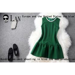 Đầm xòe thời trang đính cườm duyên dáng ddp08173