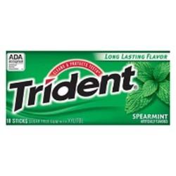 Chewing gum Trident vị bạc hà lục
