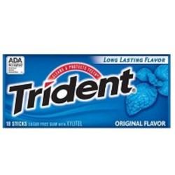 Kẹo Chewing gum Trident vị bạc hà đặc trưng