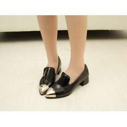 Giày cao gót loafer mũi captoe