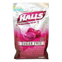 Kẹo ngậm trị ho và viêm họng Halls - Black Cherry, 25 viên
