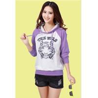 Áo thun hoodie mặt hổ Mã: AX1942 - TÍM