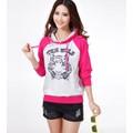 Áo thun hoodie mặt hổ Mã: AX1942 - HỒNG
