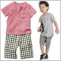 Bộ đồ quần túi hộp và áo thun cho bé trai dtt07037
