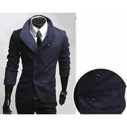 Áo khoác nam giả vest phối nút sành điệu