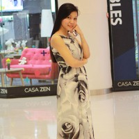 Đầm Maxi Hoa Hồng KRDM02