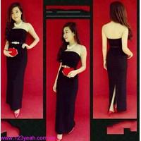 Đầm maxi cúp ngực chân váy xẻ quyến rũ sDD627