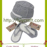 Giày + Mũ len cho bé - Handmade