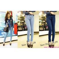 Quần jeans nữ lưng cao,lưng thấp ống ôm phom chuẩn tạo dáng xinh QJE84