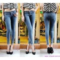 Quần jeans nữ lưng cao,lưng thấp ống ôm phom chuẩn tạo dáng xinh QJE86