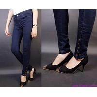 Quần jeans nữ lưng cao,lưng thấp ống ôm phom chuẩn tạo dáng xinh QJE71