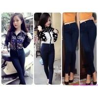 Quần jeans nữ lưng cao,lưng thấp ống ôm phom chuẩn tạo dáng xinh QJE74