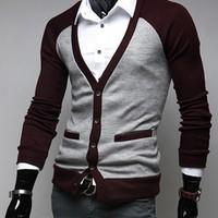 Áo khoác cardigan Hàn Quốc - CA1410 nâu