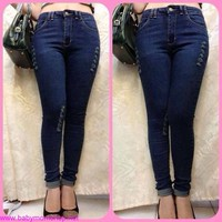 Quần jeans lưng cao đẹp from chuẩn