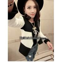 Áo khoác nữ giả vest phối màu Mã: AO1634 - TRẮNG