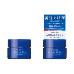 Kem dưỡng ban đêm Shiseido Aqualabel White up Cream màu xanh