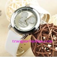 Đồng hồ mặt Mickey Mouse  thời trang Hàn Quốc cực kool