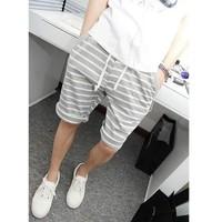 quần short nam sọc ngang Mã: NL0317 - XÁM