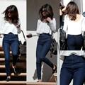 Quần jean lưng cao 1 nút gân xéo giống Selena QJ57.1