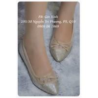 Giày búp bê kim tuyến đính nơ - Hàng VNXK