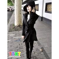áo khoác măng tô nữ korea Mã: AO0735 - ĐEN