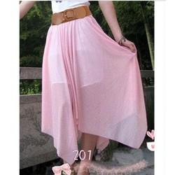 chân váy vintage chấm bi Mã: VN162 - HỒNG BI