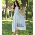 Đầm xòe xanh dương voan chân váy