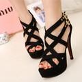 Giày vnxk mới nhất, giày cao gót 2 quai chéo nữ tính - C003
