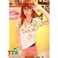 áo thun nữ dễ thương Mã: AX1309 - TRẮNG