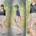 Đầm da phối váy hoa siêu đẹp
