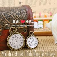Mặt dây chuyền hình đồng hồ vintage mdc92 combo 4