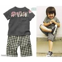 NK 0606 - Bộ đồ quần túi hộp và áo thun cho bé trai dtt07037
