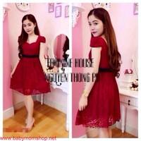 Đầm xòe đơn giản xinh xắn cho bạn gái mặc đi tiệc DM13