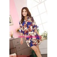 Đầm ngủ áo sơ mi cực xinh cho bạn gái mặc mùa hè DNL164