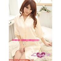 Đầm ngủ áo sơ mi cực xinh cho bạn gái mặc mùa hè DNL166